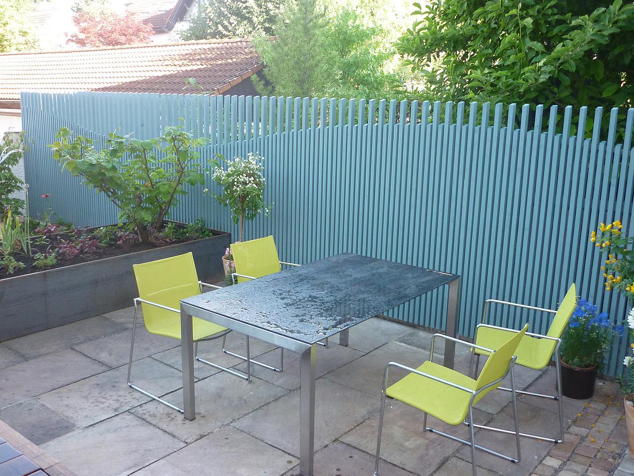 Gestaltung Eines Kleinen Privatgartens Terrasse Bepflanzung